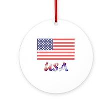 USA (flag) Ornament (Round)