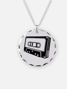 Black & White Cassette Tape Necklace