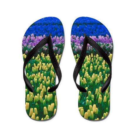 Holland Tulips Flip Flops