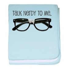 Talk Nerdy To Me<br> baby blanket