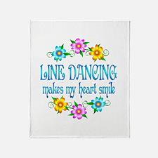 Line Dancing Smiles Throw Blanket
