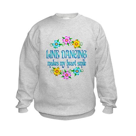 Line Dancing Smiles Kids Sweatshirt