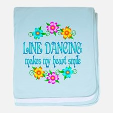 Line Dancing Smiles baby blanket
