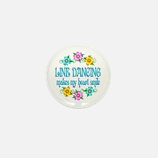 Line Dancing Smiles Mini Button (10 pack)