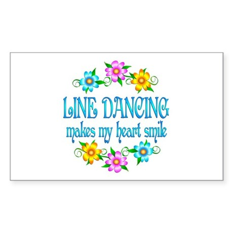 Line Dancing Smiles Sticker (Rectangle)