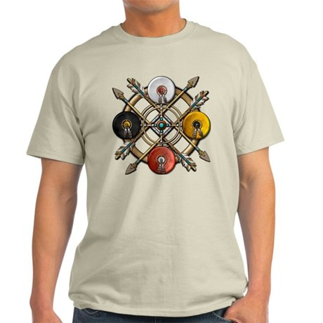 Native Medicine Wheel Mandala Light T-Shirt
