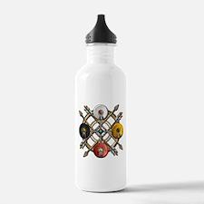 Native Medicine Wheel Mandala Water Bottle
