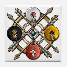Native Medicine Wheel Mandala Tile Coaster