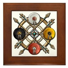 Native Medicine Wheel Mandala Framed Tile
