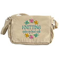 Knitting Smiles Messenger Bag