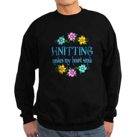Knitting Smiles Sweatshirt (dark)