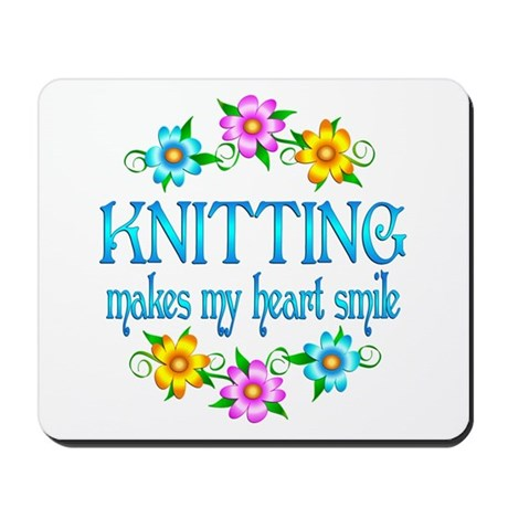Knitting Smiles Mousepad
