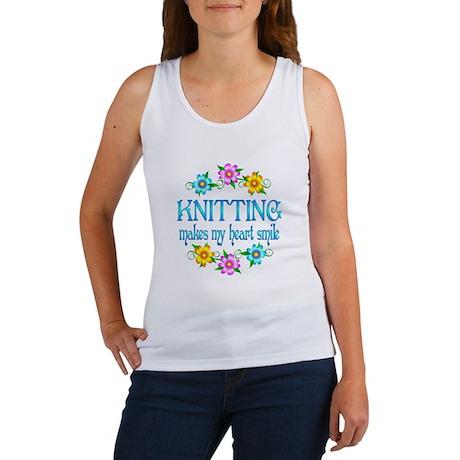 Knitting Smiles Women's Tank Top