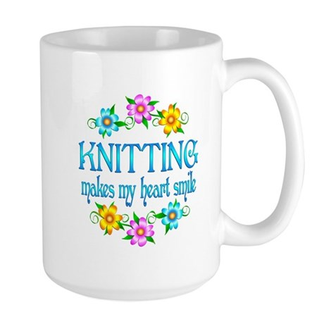 Knitting Smiles Large Mug