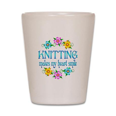 Knitting Smiles Shot Glass