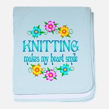 Knitting Smiles baby blanket