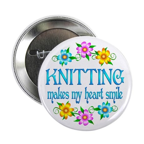 "Knitting Smiles 2.25"" Button (10 pack)"