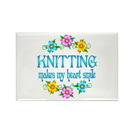 Knitting Smiles Rectangle Magnet