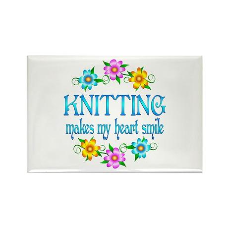 Knitting Smiles Rectangle Magnet (100 pack)