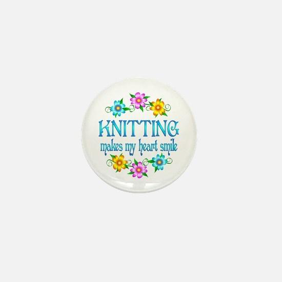 Knitting Smiles Mini Button