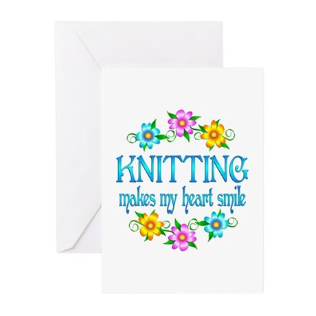 Knitting Smiles Greeting Cards (Pk of 10)