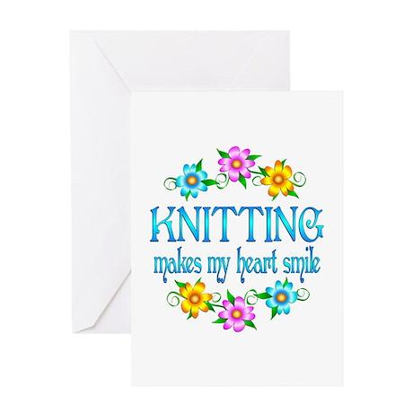 Knitting Smiles Greeting Card