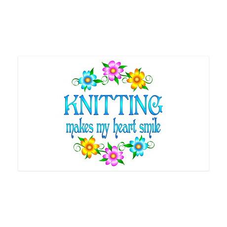 Knitting Smiles 38.5 x 24.5 Wall Peel