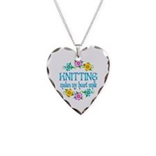 Knitting Smiles Necklace