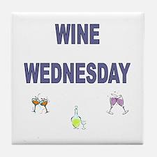 Wine Wednesday Tile Coaster