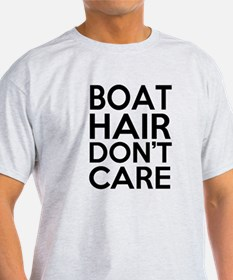 Boat Hair Don't Care Funny T-Shirt