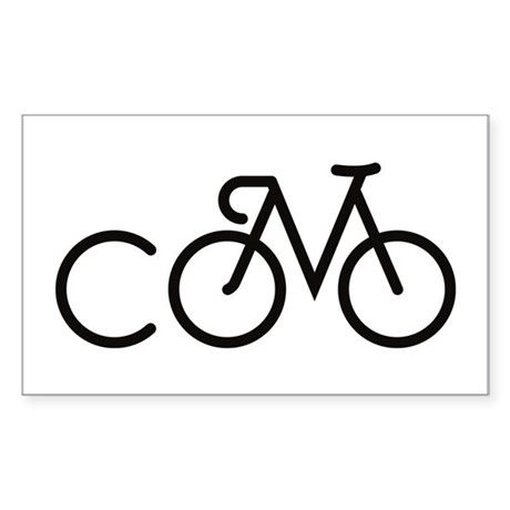 Bike CoMo Sticker (Rectangle)