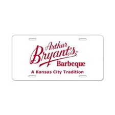 Arthur Bryant's Barbeque Aluminum License Plate