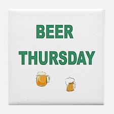Beer Thursday Tile Coaster