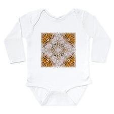 Kaleidoscope Pattern Yarn Long Sleeve Infant Bodys