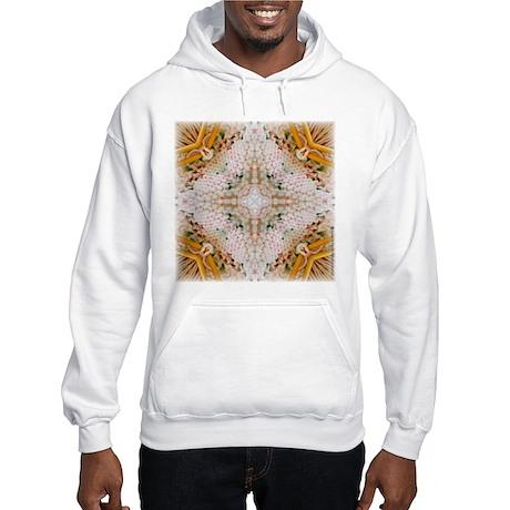 Kaleidoscope Pattern Yarn Hooded Sweatshirt