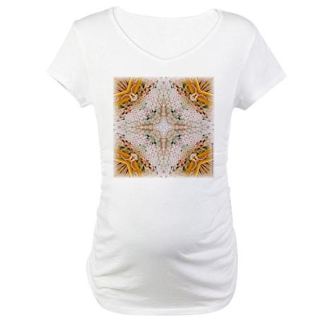 Kaleidoscope Pattern Yarn Maternity T-Shirt