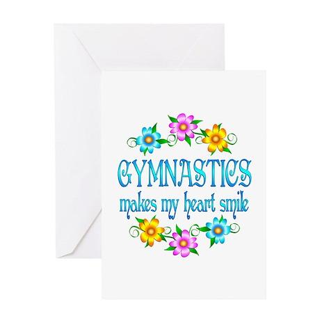 Gymnastics Smiles Greeting Card
