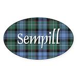 Tartan - Sempill Sticker (Oval 10 pk)
