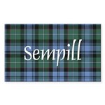 Tartan - Sempill Sticker (Rectangle 10 pk)