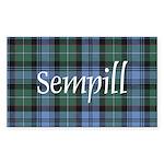 Tartan - Sempill Sticker (Rectangle 50 pk)