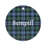 Tartan - Sempill Ornament (Round)