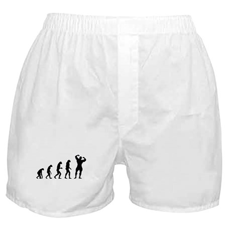 bodybuilder evolution Boxer Shorts