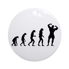 bodybuilder evolution Ornament (Round)