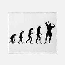 bodybuilder evolution Throw Blanket