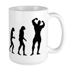bodybuilder evolution Mug
