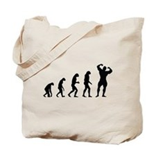 bodybuilder evolution Tote Bag