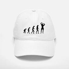 bodybuilder evolution Baseball Baseball Cap