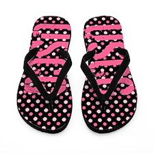 USCG Pink Polka Dots Flip Flops