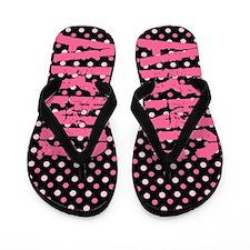 ARNG Pink Polka Dots Flip Flops