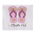 Flippin Out Flip Flops Throw Blanket